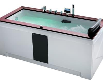 С гидромассажем акриловая ванна Gemy G9057 II K L 186 прямоугольная 186x91