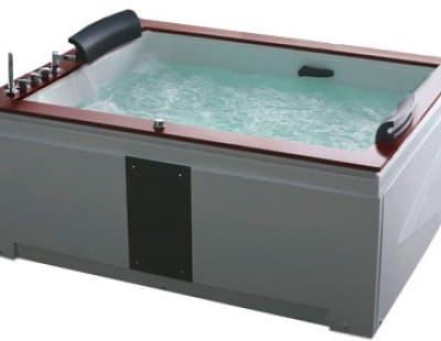 С гидромассажем акриловая ванна Gemy G9052 II B L 186 прямоугольная 186x151