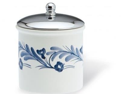 Stil Haus Nemi, настольный керамический контейнер, цвет хром - белая керамика 745(39)