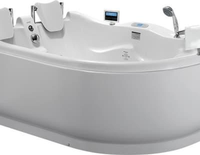 С гидромассажем акриловая ванна Gemy G9083 O L 180 асимметричная 180x121