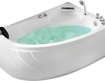 С гидромассажем акриловая ванна Gemy G9009 B R 150 асимметричная 150x100