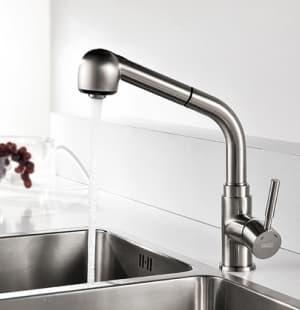Wern 4266 Смеситель для кухни с выдвижной лейкой WasserKRAFT