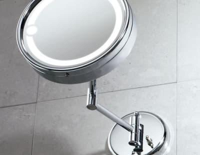 Gedy, G-Laurent, настенное косметическое зеркало с 2-х кратным увеличением и подсветкой, цвет хром 2105(13)