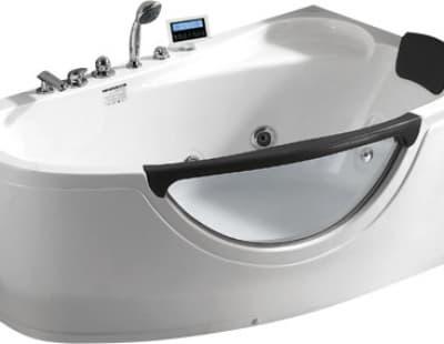 С гидромассажем акриловая ванна Gemy G9046 K R 161 асимметричная 161x96