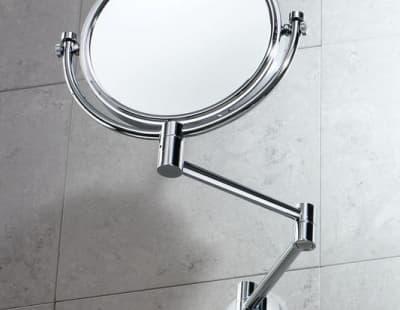 Gedy, G-Michel, настенное косметическое зеркало с 2-х кратным увеличением, цвет хром 2104(13)