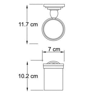 К-7328 Подстаканник стеклянный WasserKRAFT