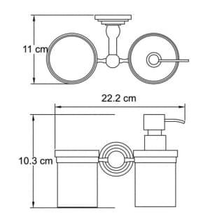 К-7389 Держатель стакана и дозатора WasserKRAFT