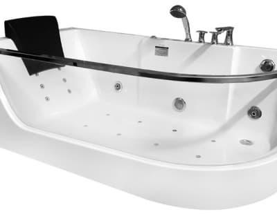 С гидромассажем акриловая ванна Gemy G9227 E L 165 асимметричная 165x80