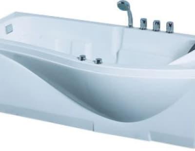 С гидромассажем акриловая ванна Gemy G9010 B L 173 асимметричная 173x83