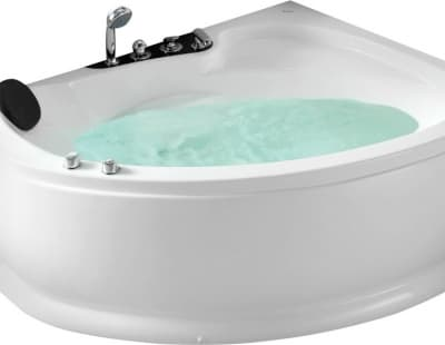 С гидромассажем акриловая ванна Gemy G9003 B R 152 асимметричная 152x121