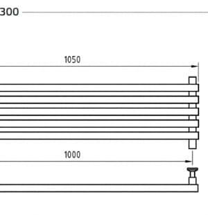 Полотенцесушитель ArtofSpace Cube Horizontal WACEH1000300Chrome