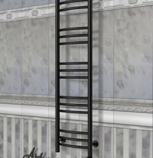 Электрический полотенцесушитель с функцией быстрой сушки скрытое подключение ArtofSpace ARTICO EAAO3001200RAL9005RS