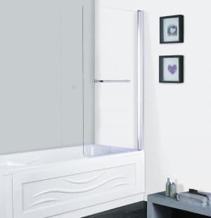 Шторка для ванны ESBANO ES-1480 поворотная с полотенцедержателем 80x140