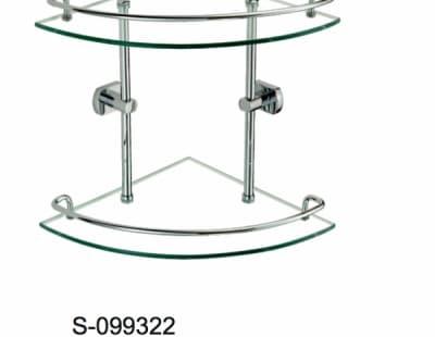 Полка стеклянная угловая двойная Savol S-099322