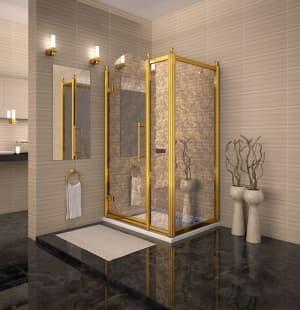 Душевое ограждение RADOMIR Lorenzo/Лоренцо Великолепный Gold 120x90