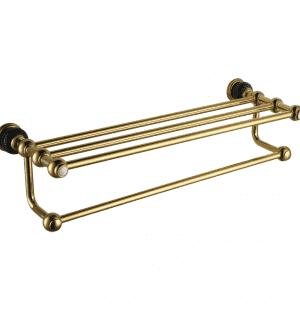 Полотенцедержатель с полочкой RADOMIR (GOLD)
