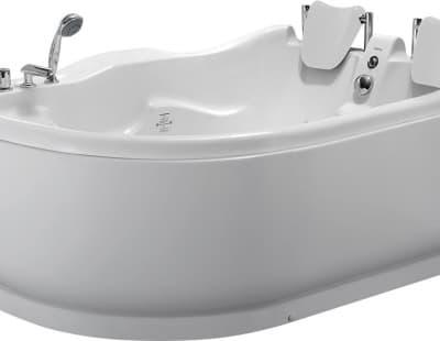 С гидромассажем акриловая ванна Gemy G9083 B R 180 асимметричная 180x121