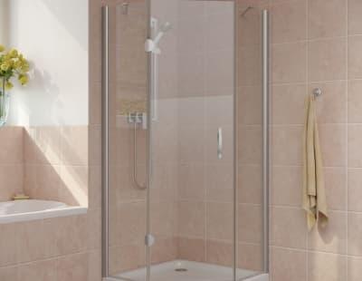 Душевой уголок Vegas-Glass AFA-Pen Lux 0100 профиль матовый хром стекло прозрачное R