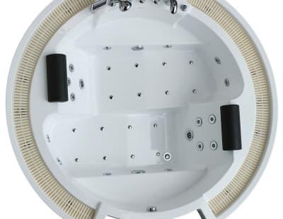 С гидромассажем акриловая ванна Gemy G9060 K 210 круглая 210x210
