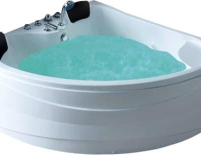 С гидромассажем акриловая ванна Gemy G9041 B 150 угловая 150x150