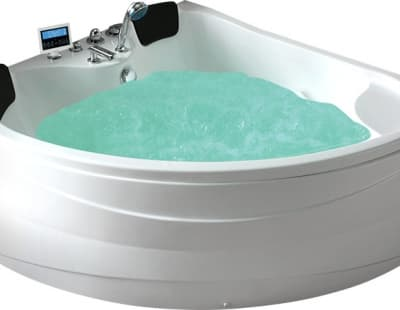 С гидромассажем акриловая ванна Gemy G9041 O 150 угловая 150x150