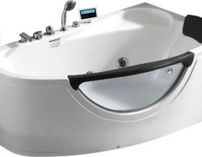С гидромассажем акриловая ванна Gemy G9046 O R 161 асимметричная 161x96