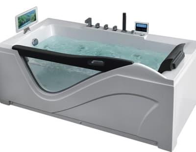 С гидромассажем акриловая ванна Gemy G9055 O L 181 прямоугольная 181x92