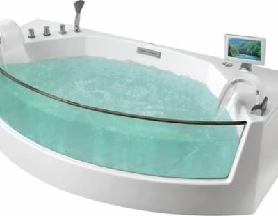 Аэромассажная акриловая ванна Gemy G9079 O 200 нестандартная 200x105