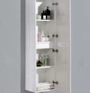 Шкаф подвесной BelBagno ANCONA-N-1500-2A-SC-BL-R, Bianco Lucido