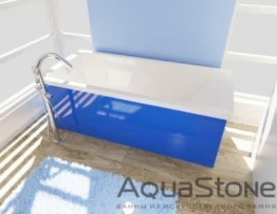 Ванна из литьевого мрамора Aquastone Армада 150x74 синяя прямоугольная 150