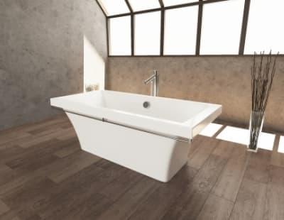 Ванна из литьевого мрамора Aquastone Мадрид 180x80 прямоугольная 180