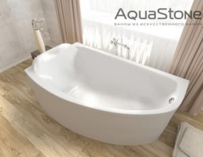 Ванна из литьевого мрамора Aquastone Верона 177x123 асимметричная 177
