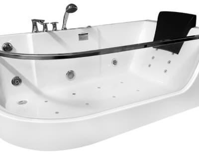 С гидромассажем акриловая ванна Gemy G9227 E R 165 асимметричная 165x80