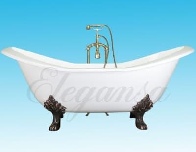 """Ванна чугунная ELEGANSA """"TAISS"""" bronze V0000140 180x80 овальная"""