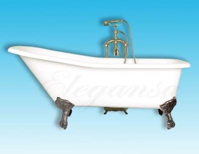 """Ванна чугунная ELEGANSA """"SCHALE"""" bronze Н0000278 170x75 овальная"""