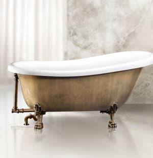Ванна акриловая отдельностоящая BELBAGNO BB04-BRN/BIA 1700