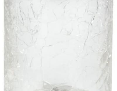 Surya Crystal, стакан, цвет хром - эффект битого стекла 6601/CH-CRD