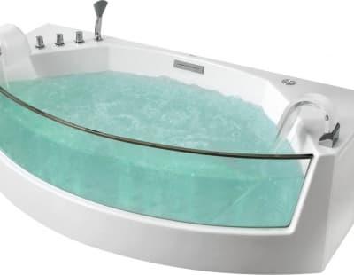 С аэромассажем акриловая ванна Gemy G9079 200 нестандартная 200x105