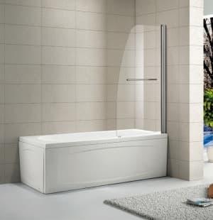 Шторка на ванну Alvaro Banos VITORIA G75.11 Cromo 75x150