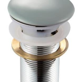 Донный клапан с переливом (серый) MELANA MLN-TB10