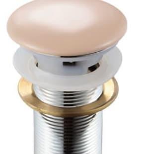 Донный клапан с переливом (кремовый) MELANA MLN-TB16