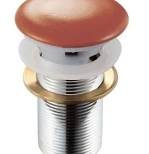 Донный клапан с переливом (терракот) MELANA MLN-TB17