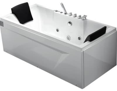 С гидромассажем акриловая ванна Gemy G9065 B L 175 прямоугольная 175x85