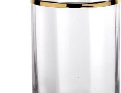 Surya Crystal, стакан, цвет золото - стекло с эффектом волны 6601/GO-WAV