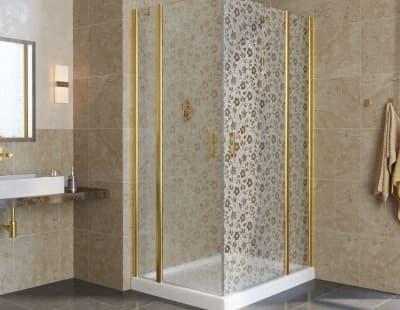 Душевой уголок Vegas-Glass ЕFA-F Lux 120*90 профиль золото стекло жасмин R