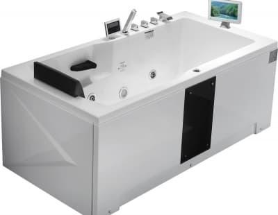 С гидромассажем акриловая ванна Gemy G9066 II O R 171 прямоугольная 171x86