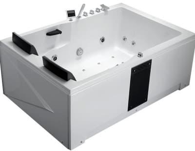 С гидромассажем акриловая ванна Gemy G9061 K R 181 прямоугольная 181x121