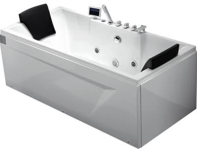 С гидромассажем акриловая ванна Gemy G9065 K L 175 прямоугольная 175x85