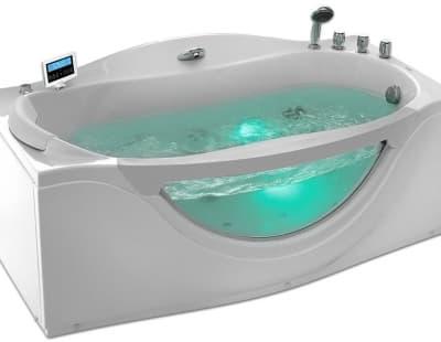 С гидромассажем акриловая ванна Gemy G9072 K R 171 прямоугольная 171x92