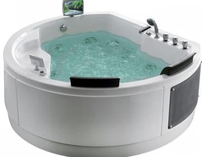 С гидромассажем акриловая ванна Gemy G9063 O 183 нестандартная 183x162